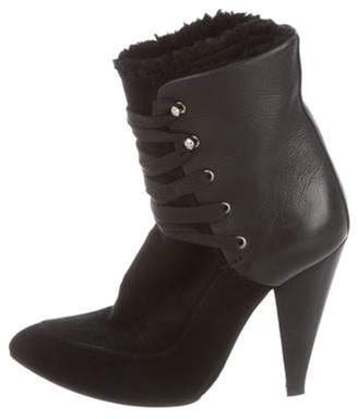 IRO Suede Lace-Up Booties Black Suede Lace-Up Booties