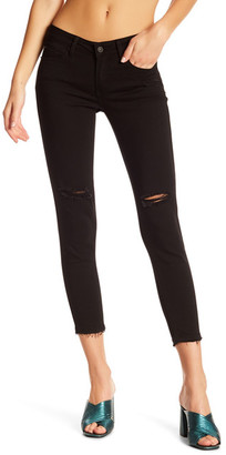Just USA Distressed Slit Knee Cropped Skinny Jean (Juniors) $59.99 thestylecure.com