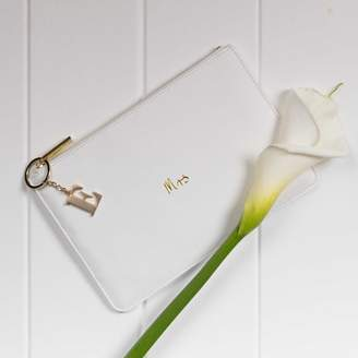 Nest Personalised 'Mrs' Bridal White Perfect Pouch