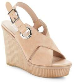 BCBGeneration Leather Open-Toe Wedge Sandals