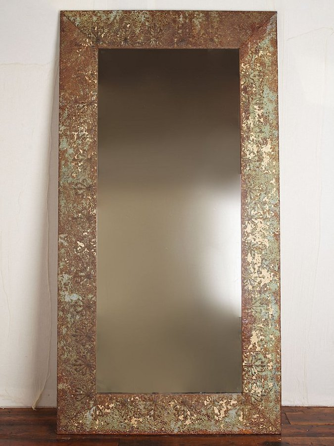 Vintage Large Tin Mirror