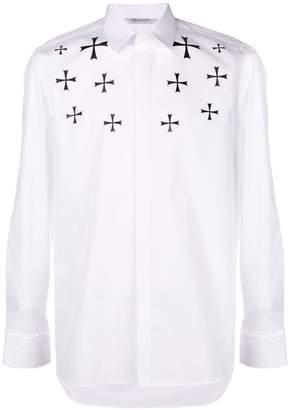 Neil Barrett cross print shirt