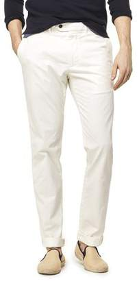 Todd Snyder Extra Slim Fit Tab Front Stretch Chino in Off White