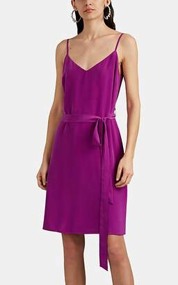 L'Agence Women's Camil Silk Crêpe De Chine Belted Slipdress - Purple