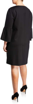 Lafayette 148 New York Marisa Bell-Sleeve A-line Dress, Plus Size
