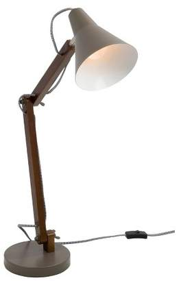Lumisource Oregon Industrial Adjustable Table Lamp Walnut (Lamp Only)