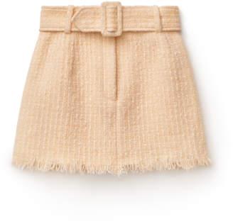 Alexander Wang Alexanderwang frayed edge tweed mini skirt