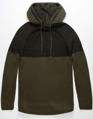 Hedge Twist Hood Mens Sweater