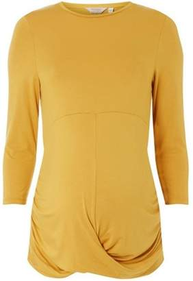 Dorothy Perkins Womens **Maternity Ochre Knot Front Top