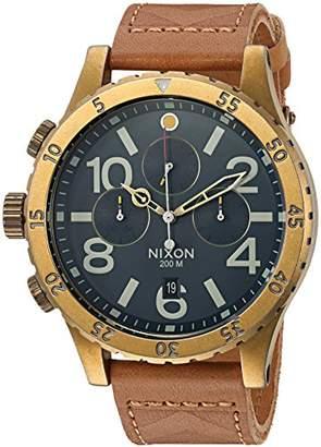 Nixon Men's '48-20 Chrono Leather' Quartz Stainless Steel Casual Watch