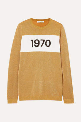Bella Freud 1970 Metallic Knitted Sweater - Gold