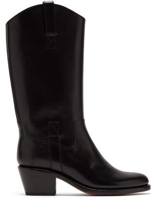 A.P.C. Nina Western Leather Boots - Womens - Black