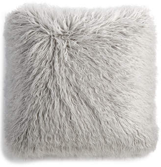 "Martha Stewart Collection Faux Mongolian Fur 20"" Square Decorative Pillow, Created for Macy's"