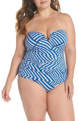 Tommy Bahama Fronds V-Wire Bandeau One-Piece