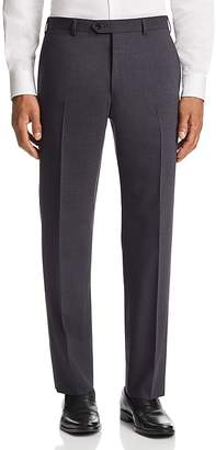 Emporio Armani Tonal Micro-Check-Pattern Tailored Fit Pants