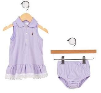 Ralph Lauren Infant Girls' Sleeveless Dress Set