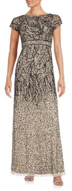 Sequined Empire Waist Gown $420 thestylecure.com