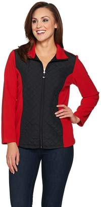 Susan Graver Weekend Polar Fleece Jacket with Quilted Nylon
