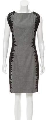 Lela Rose Sleeveless Wool Dress