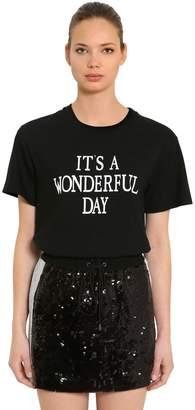Alberta Ferretti Wonderful Day Cotton Jersey T-Shirt