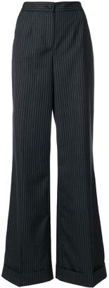 Dolce & Gabbana pinstriped flared trousers
