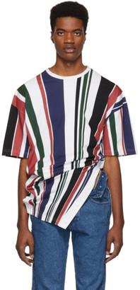 Diesel Red Tag Multicolor Glenn Martens Edition Striped Pique T-Shirt
