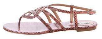 Alexa Wagner Snakeskin Multistrap Sandals