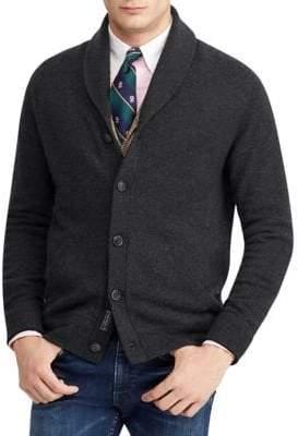 Polo Ralph Lauren Long-Sleeve Wool Shawl Cardigan