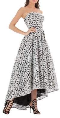 Js Collections Strapless Floral Hi-Lo Ballgown $379 thestylecure.com