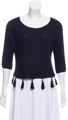 L'Agence Knit Fringe Top w/ Tags