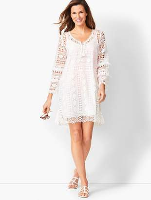 c349cfaf37 Talbots Bell-Sleeve Embroidered Lace Cover-up