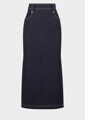 Versace Tribute Denim Maxi Skirt