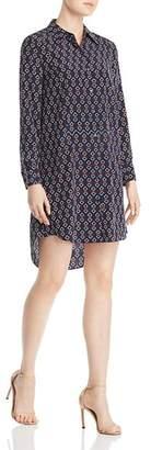 Tory Burch Michelle Geometric Silk Shirt Dress