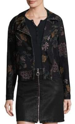 7 For All Mankind Graphic Motorcycle Jacket