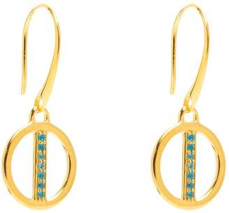 Lola Rose London - Curio Mini Bar Drop Earrings Neon Apatite