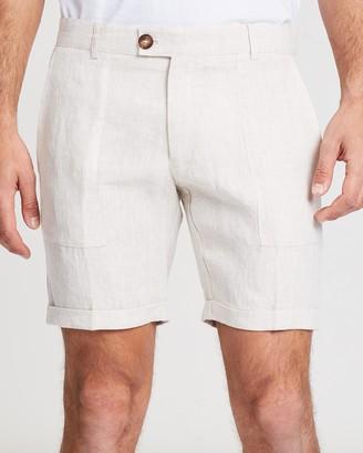 Tailored Linen Shorts