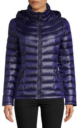 Calvin Klein Petite Short Hooded Packable Jacket