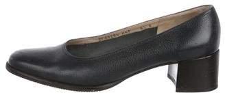 Salvatore Ferragamo Leather Low-Heel Pumps