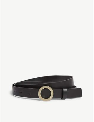 Claudie Pierlot Aligato slim leather belt