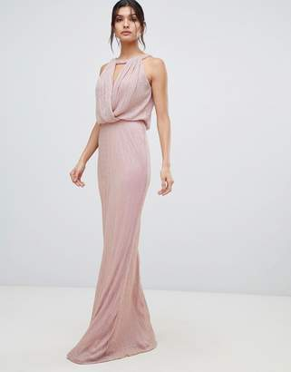 Forever Unique keyhole neck maxi dress