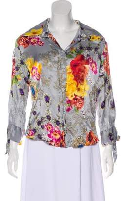 Just Cavalli Silk Long Sleeve Top