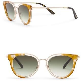 Toms 49mm Rey Honey Crystal Sunglasses