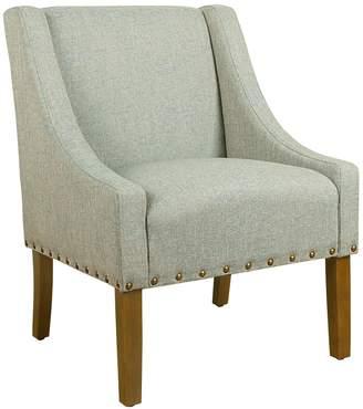HomePop Modern Nailhead Swoop Accent Chair