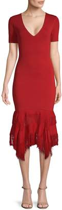 Sachin + Babi Tanah Handkerchief Hem Midi Dress