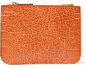 Iris & Ink Blake Croc-Effect Leather Pouch