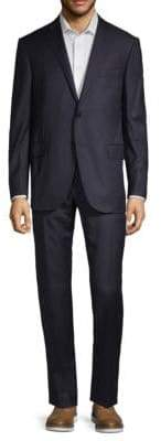 Corneliani Tonal Pinstripe Wool & Cashmere Suit