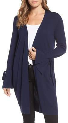 Halogen Lightweight Tie Sleeve Cardigan (Petite)