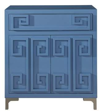 HomeFare Contemporary High Gloss Blue Two Door Accent Wine Cabinet