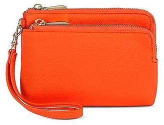 Merona; Women's Faux Leather Zip Wristlet Pouch $12.99 thestylecure.com