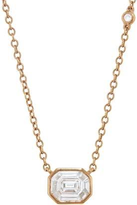 Shay Illusion Emerald Cut Diamond Pendant Necklace - Yellow Gold